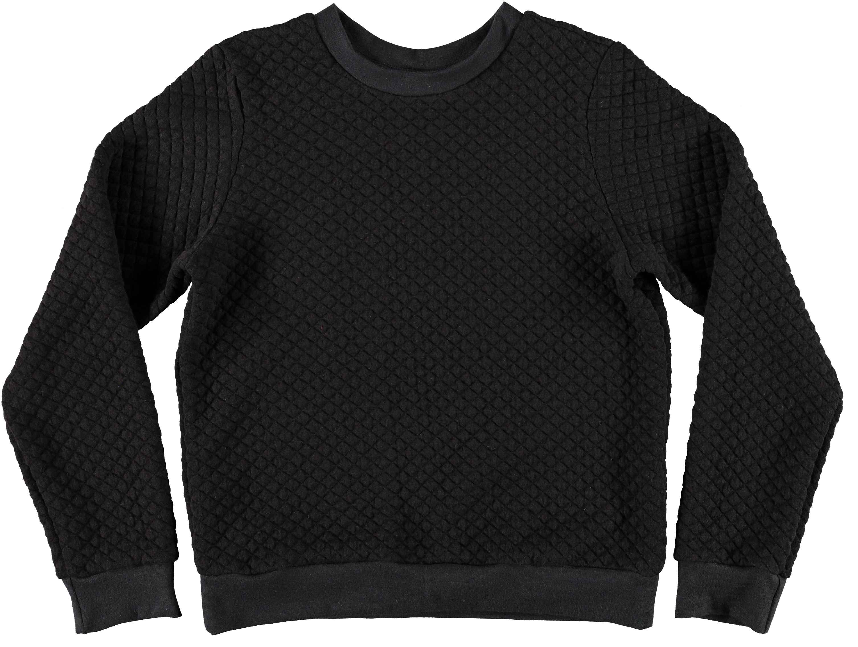 CAROLINE BOSMANS Wonder Quilted Sweatshirt [Black] RRP: $107.00 -http://www.minismalls.com