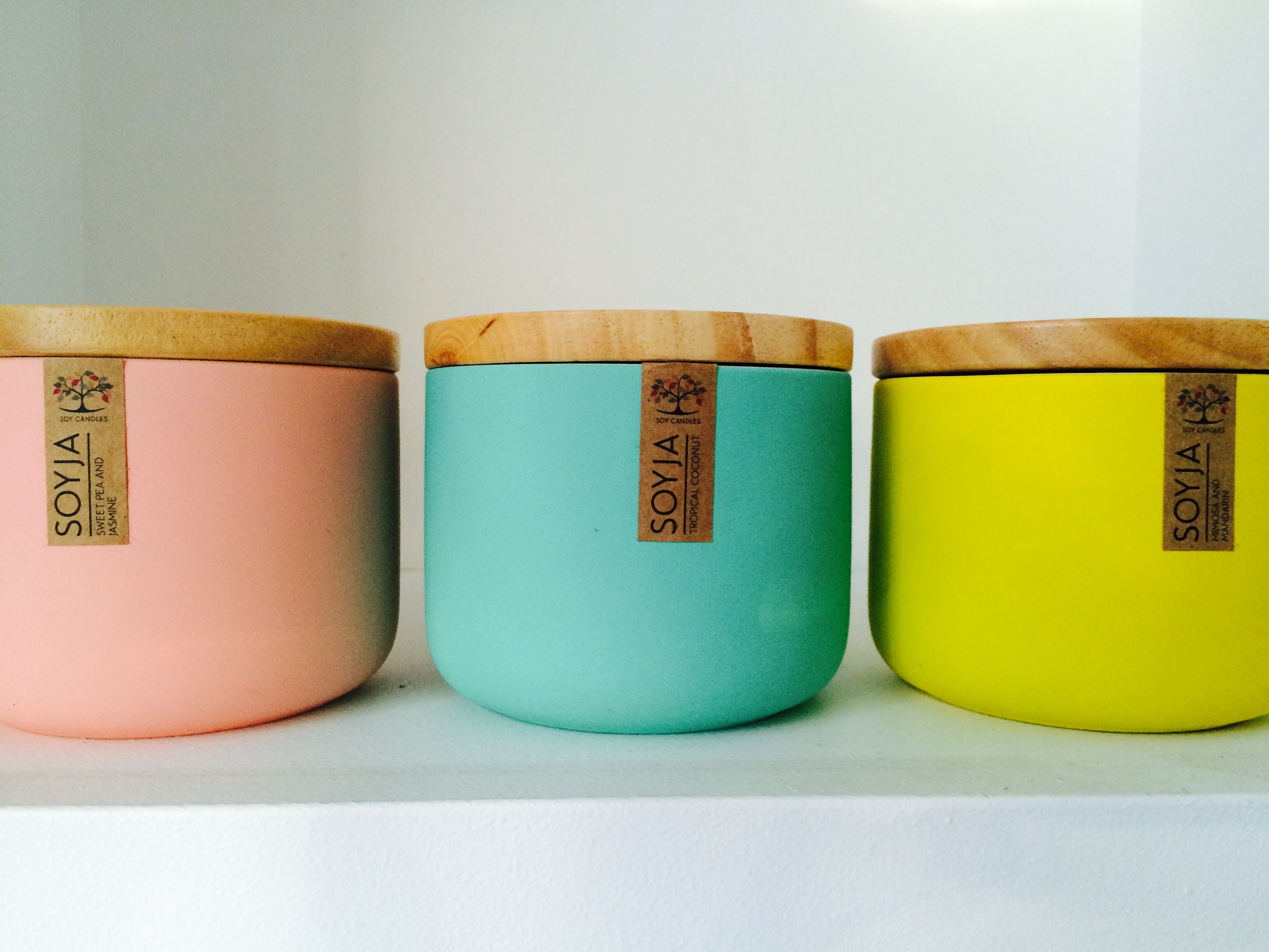 Candles from soyja.com.au - Price ranges from $29 for this size and $45 for larger size (not seen in the this pic).