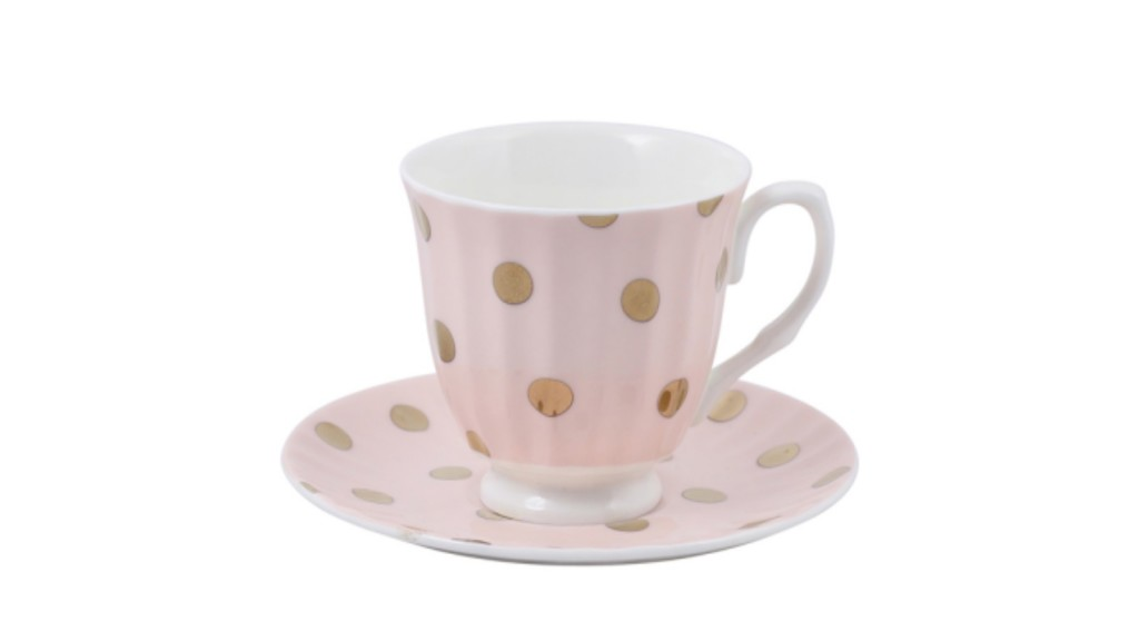 Goldie tea cup and saucer in peachy $29.95 -domayneonline.com
