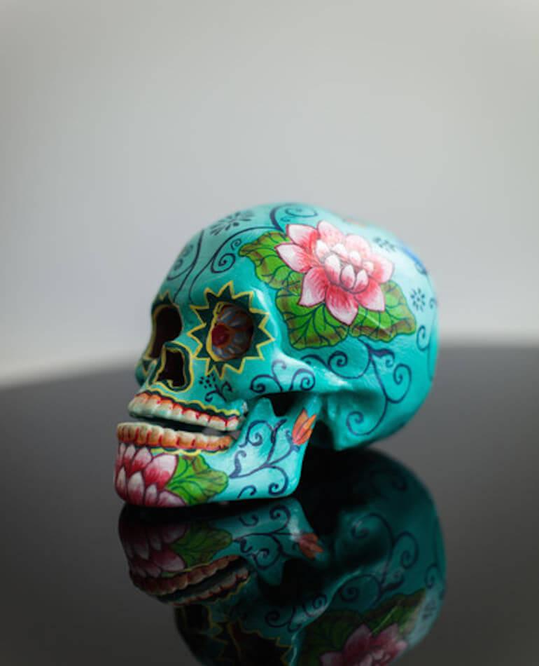 Milly and Eugene Lotus Pod Skull - $99.00 - backstreetshopper.com.au