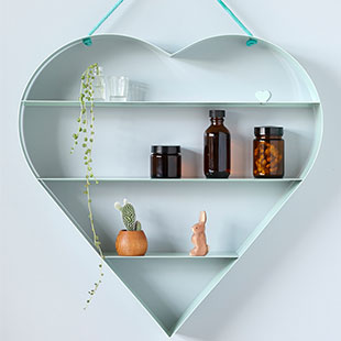 BRIDE heart shelf mint $290.00 - kidostore.com
