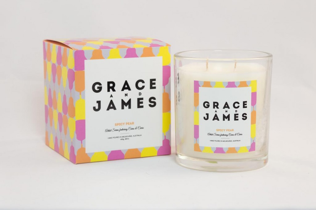 Grace and James Candle - 49.95