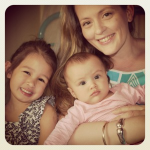 Carla and her two girls- Olive and Willa