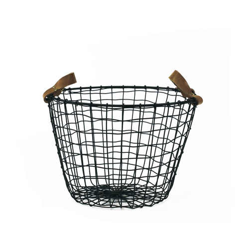 Leather-Handled-Basket-62.00 - thewoodsfolk.com.au