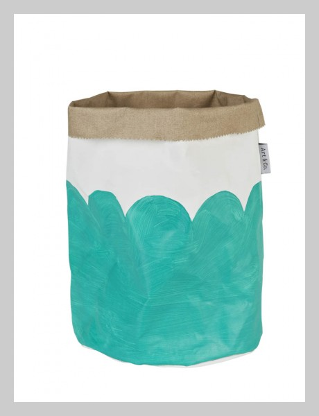 Mint Petal Painted Canvas Bucket - 69.96 - lumiereartandco.com