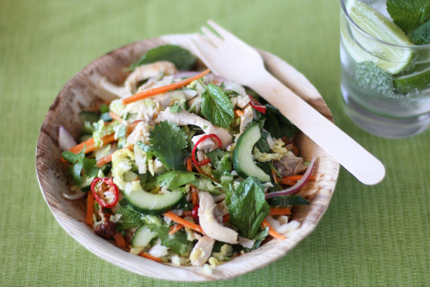 Asian Chicken Salad - healthy, fresh Asian chicken salad - it's delish!