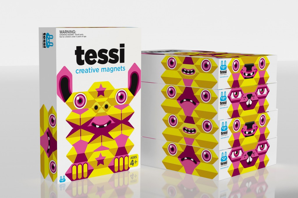 Tessi Creative Magnets - Coloured magnets in all different shapes for children to create. Aged 4+ - $39.00 - tessicreative.com